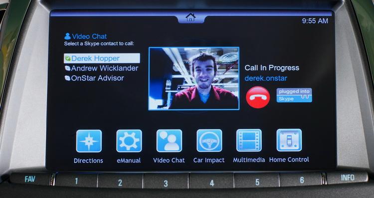 Skype в автомобилях