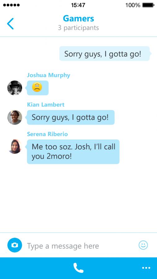 Skype 5.4 для iPhone